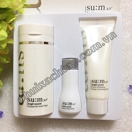 Set kỳ thải độc 3 in 1 Su:m37 Bright Award Bubble De Mask